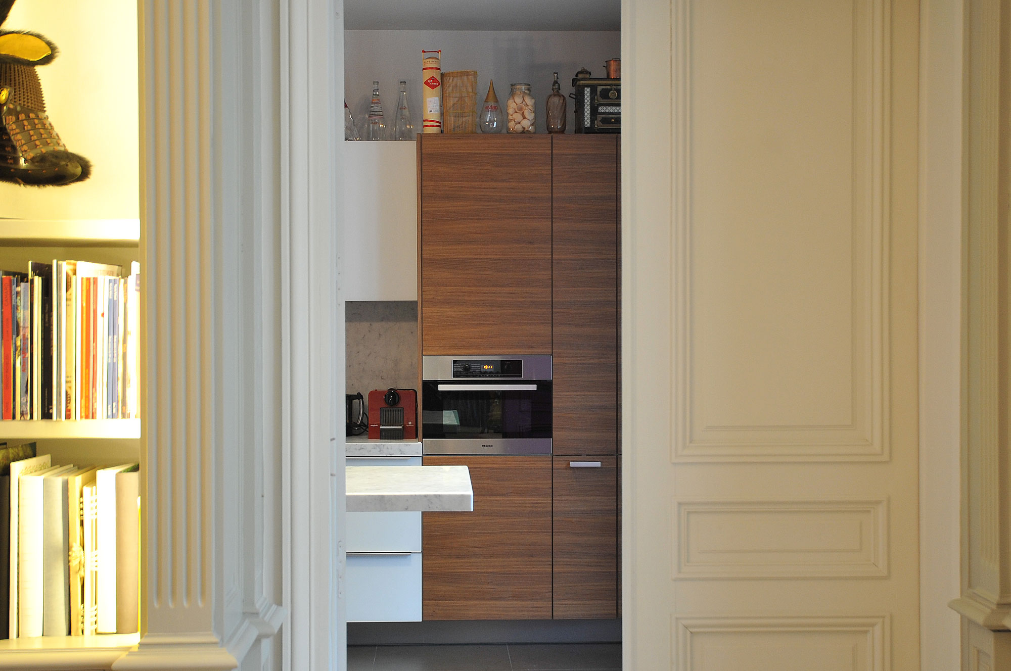 Architecture int rieure appartement haussmannien avec - Placard decor distribution ...